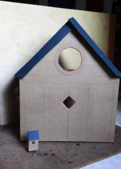 birdhouse cardboard