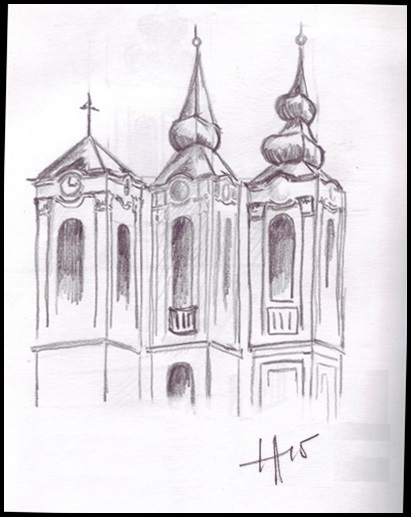 church towers sketch