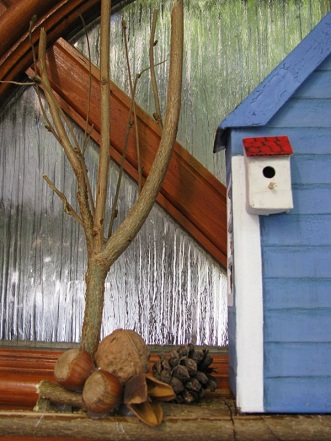 tree mini birdhouse