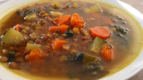 Lentil soup pumpkin