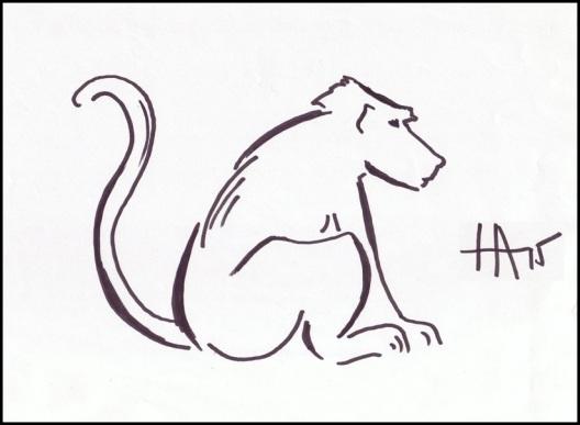 monkey zodiac drawing