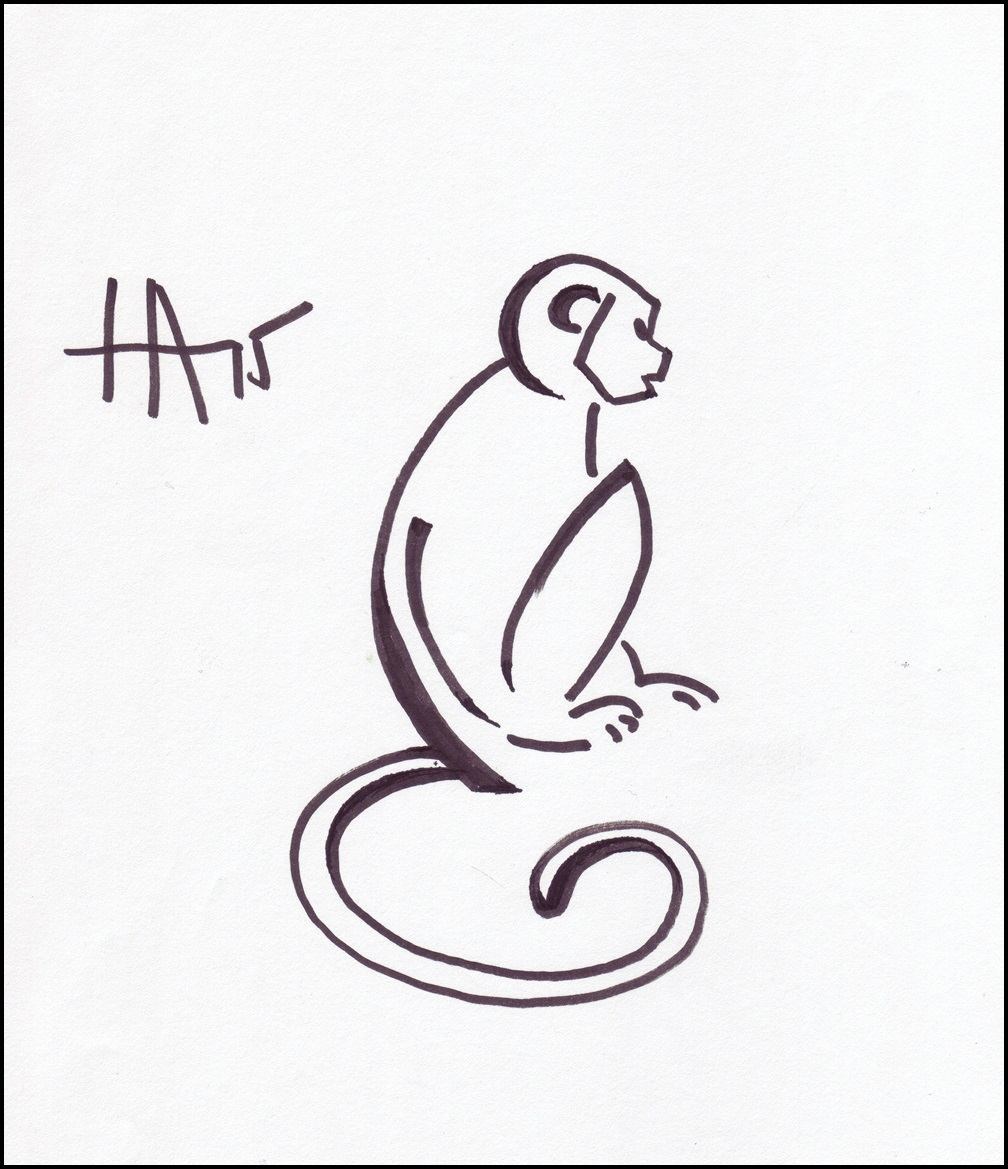 Line Drawing Monkey : This ain t no monkey business adri s palette