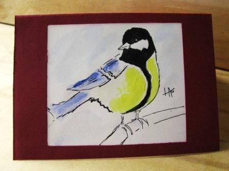 greeting card bird