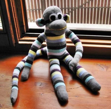 sock monkey front