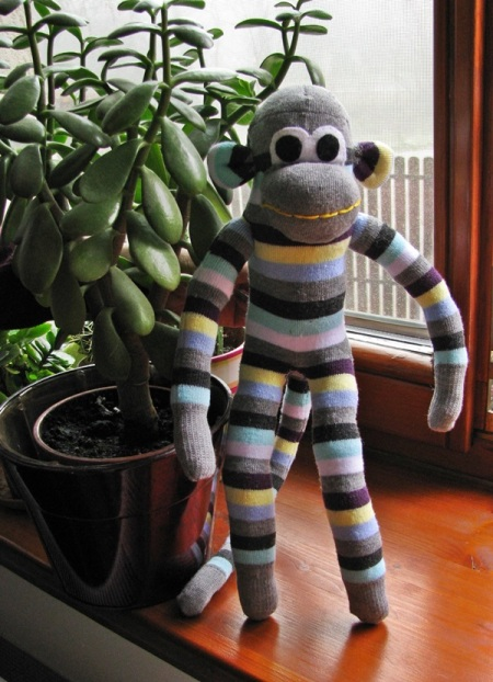 sock monkey with baobab