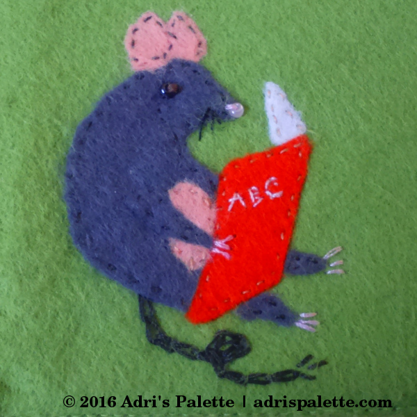 felt mouse appliqué