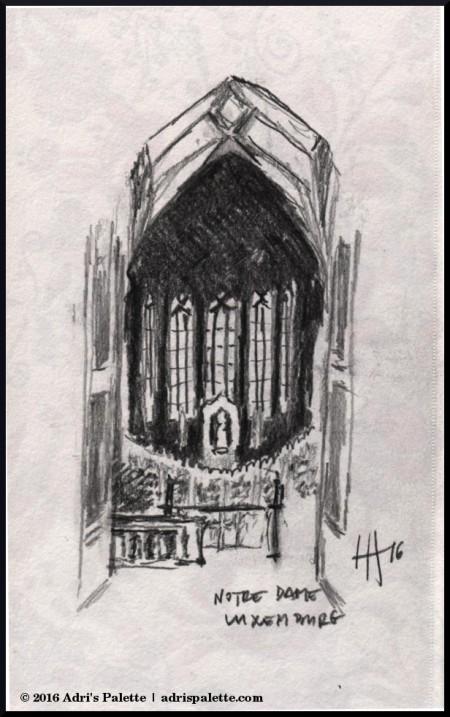 notre dame altar sketch