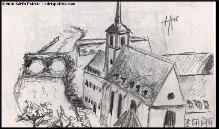 St Jean church sketch