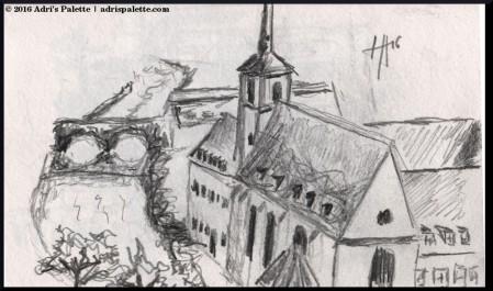 St Jean church sketch
