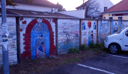 mural parking lot