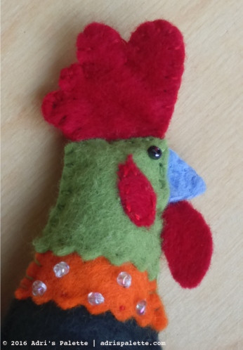 rooster felt head