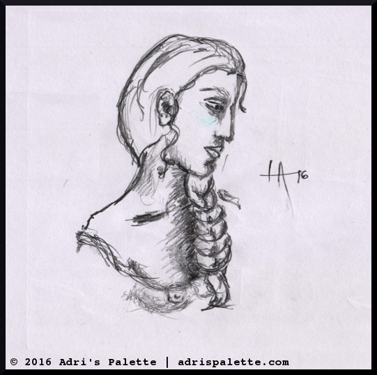 woman face study