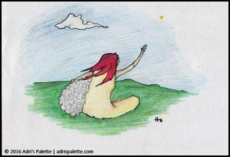 woman and sheep