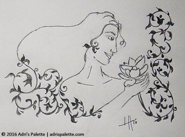 woman lotus flower