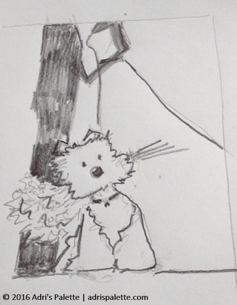 wedding card sketch