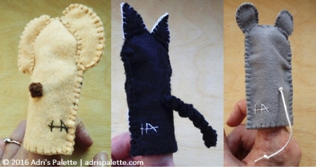 finger puppet tails