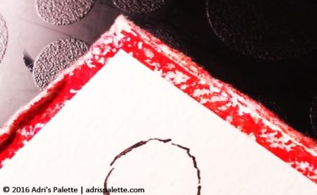 card framing splattered