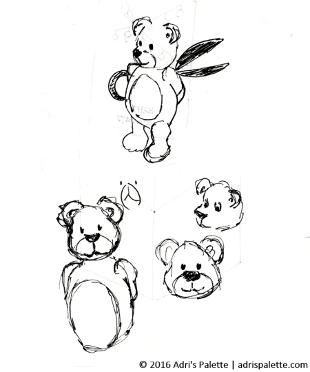 bear-sketches-for-xmas-card